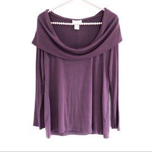 SOFT SURROUNDINGS Plum Colored Long Sleeve Top
